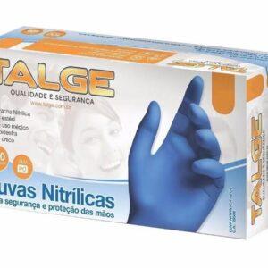 LUVA-NITRILICA-M-AZUL-SEM-PÓ-CA-29509-100-UNIDADES